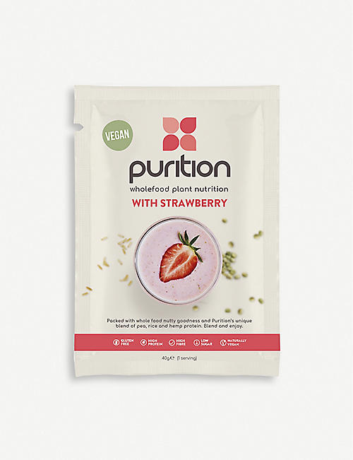 PURITION Dairy-free strawberry protein powder 8 x 40g