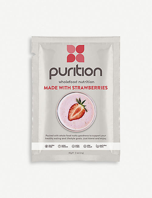 PURITION Strawberry protein powder 8 x 40g