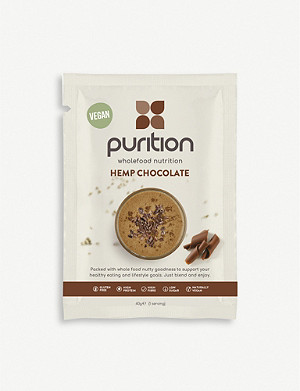 PURITION Dairy-free hemp chocolate protein powder 8 x 40g