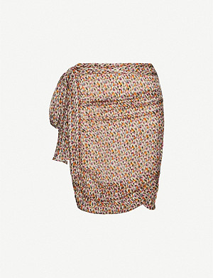 BA&SH Dina abstract-print crepe skirt