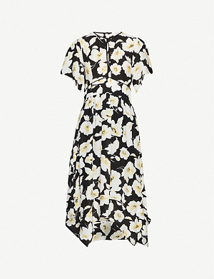 BA&SH Fairy floral-print crepe midi dress