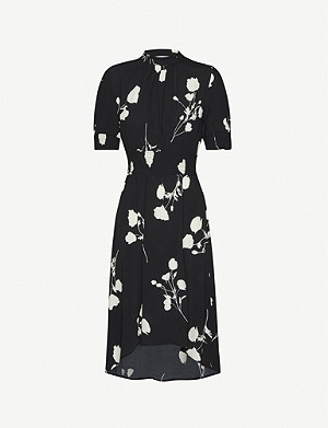 BA&SH Poppy crepe midi dress