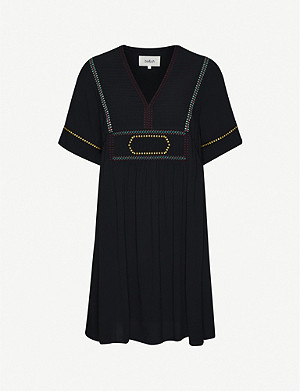 BA&SH Tali contrast-stitching crepe mini dress