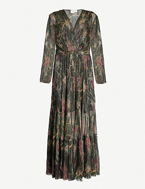 BA&SH Hendrix floral-print pleated woven midi dress