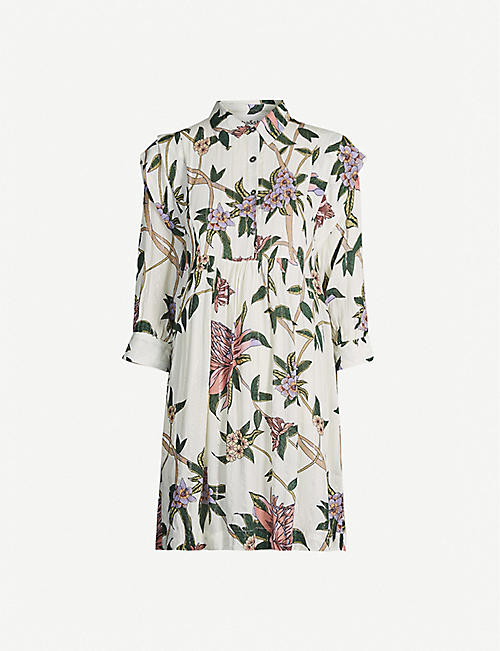 BA&SH Paprika floral-print woven maxi dress
