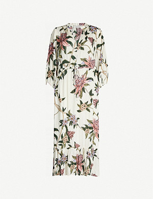 BA&SH Patty floral-print woven midi dress