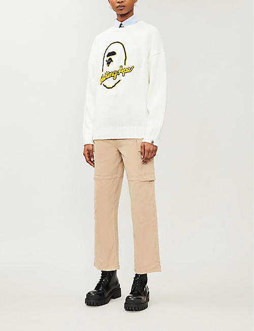 BAPE Logo-embroidered knitted jumper