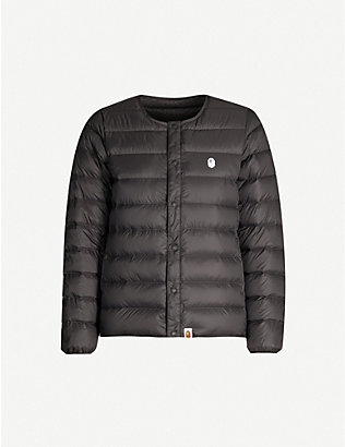 BAPE: Logo-print padded shell jacket