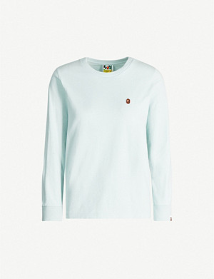 BAPE One Point long-sleeve cotton-jersey T-shirt