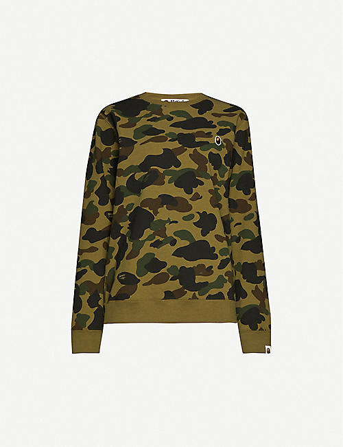 BAPE: Camouflage-patterned cotton-jersey jumper