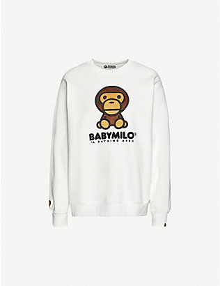 BAPE: Boa Big Baby Milo cotton-blend jersey jumper