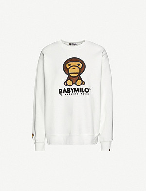 BAPE Boa Big Baby Milo cotton-blend jersey jumper