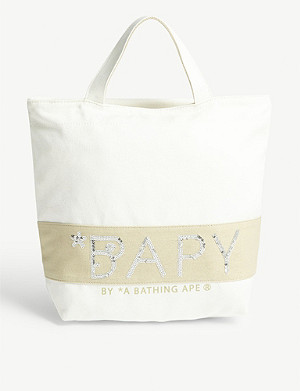 BAPY Canvas sequin-embellished tote bag