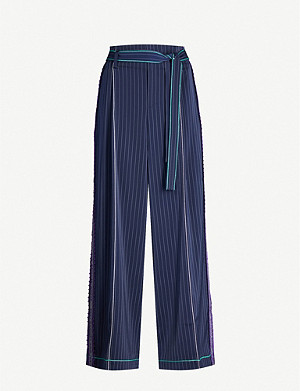 BAPY Stripes pinstriped wide-fit crepe trousers