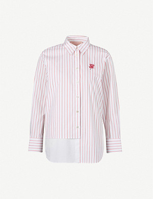 BAPY Stripes pinstriped stretch-cotton shirt