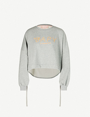 BAPY Logo-embroidered cotton-blend sweatshirt