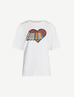 BAPY Bapy Is Love print cotton T-shirt