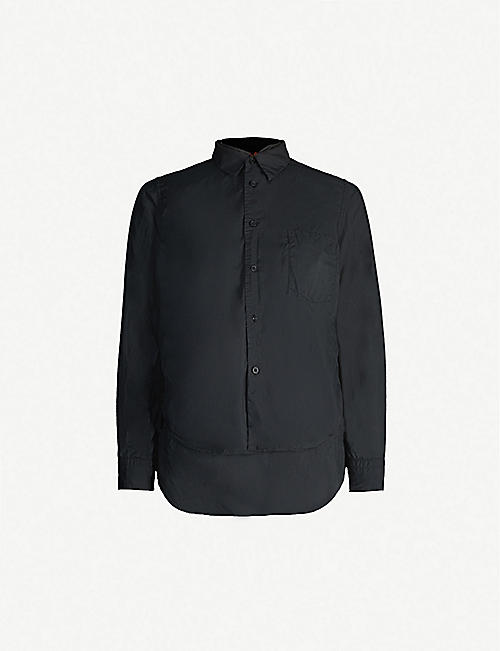 BLACK COMME DES GARCON Double-layer relaxed fit crepe shirt