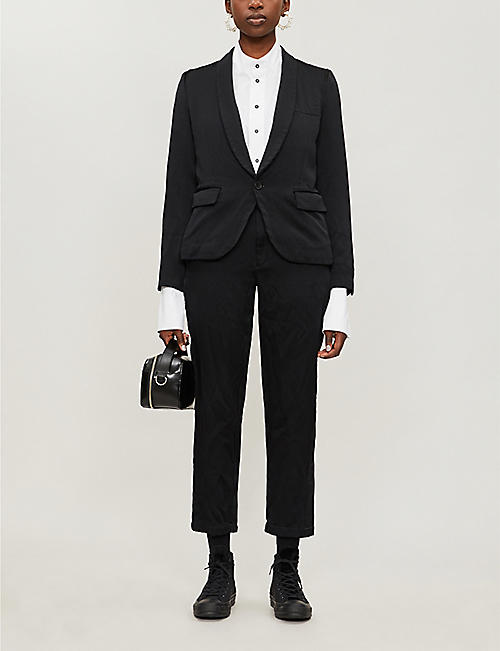 BLACK COMME DES GARCON Single-breasted relaxed-fit satin blazer