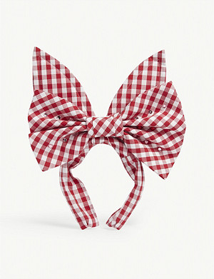 COMME DES GARCONS GIRL Gingham-print cotton headband