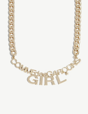 COMME DES GARCONS GIRL Curb chain logo necklace