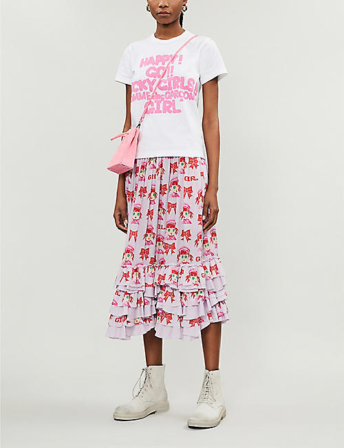 COMME DES GARCONS GIRL Slogan-print cotton-jersey T-shirt