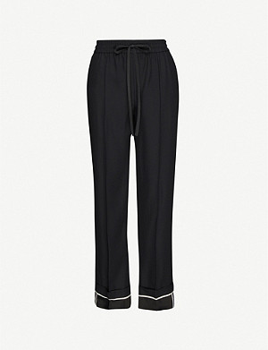 RED VALENTINO High-rise wide-leg crepe trousers