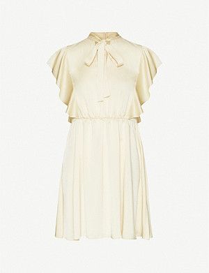 RED VALENTINO Ruffled satin-crepe mini dress