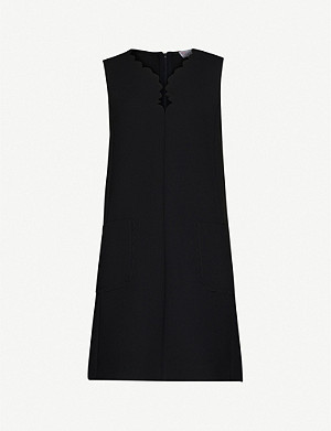 RED VALENTINO Sleeveless stretch-ponté dress