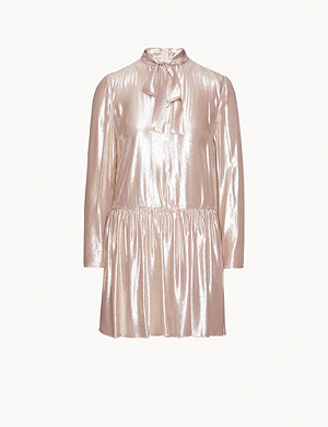RED VALENTINO Metallic woven mini dress