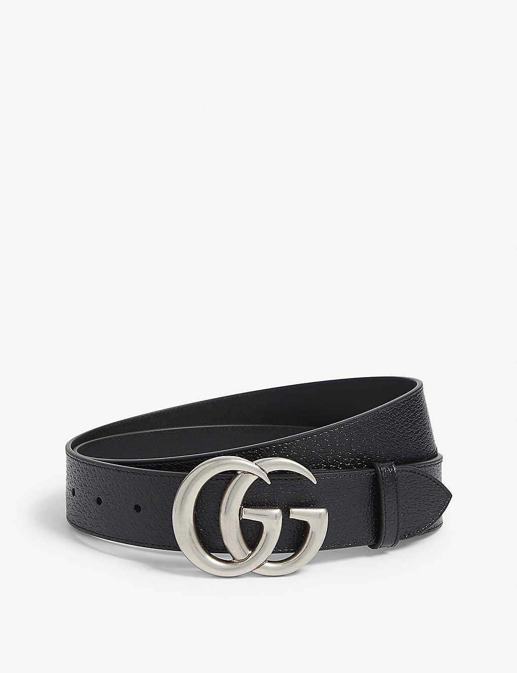 50dc48921 GUCCI - GG logo leather and suede belt | Selfridges.com