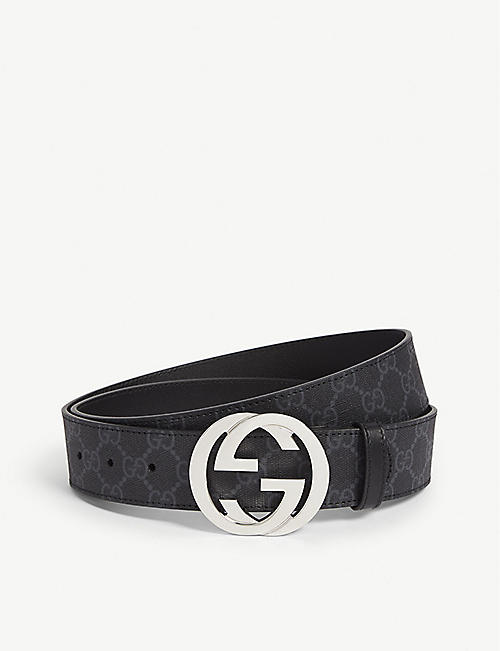 GUCCI Supreme leather belt