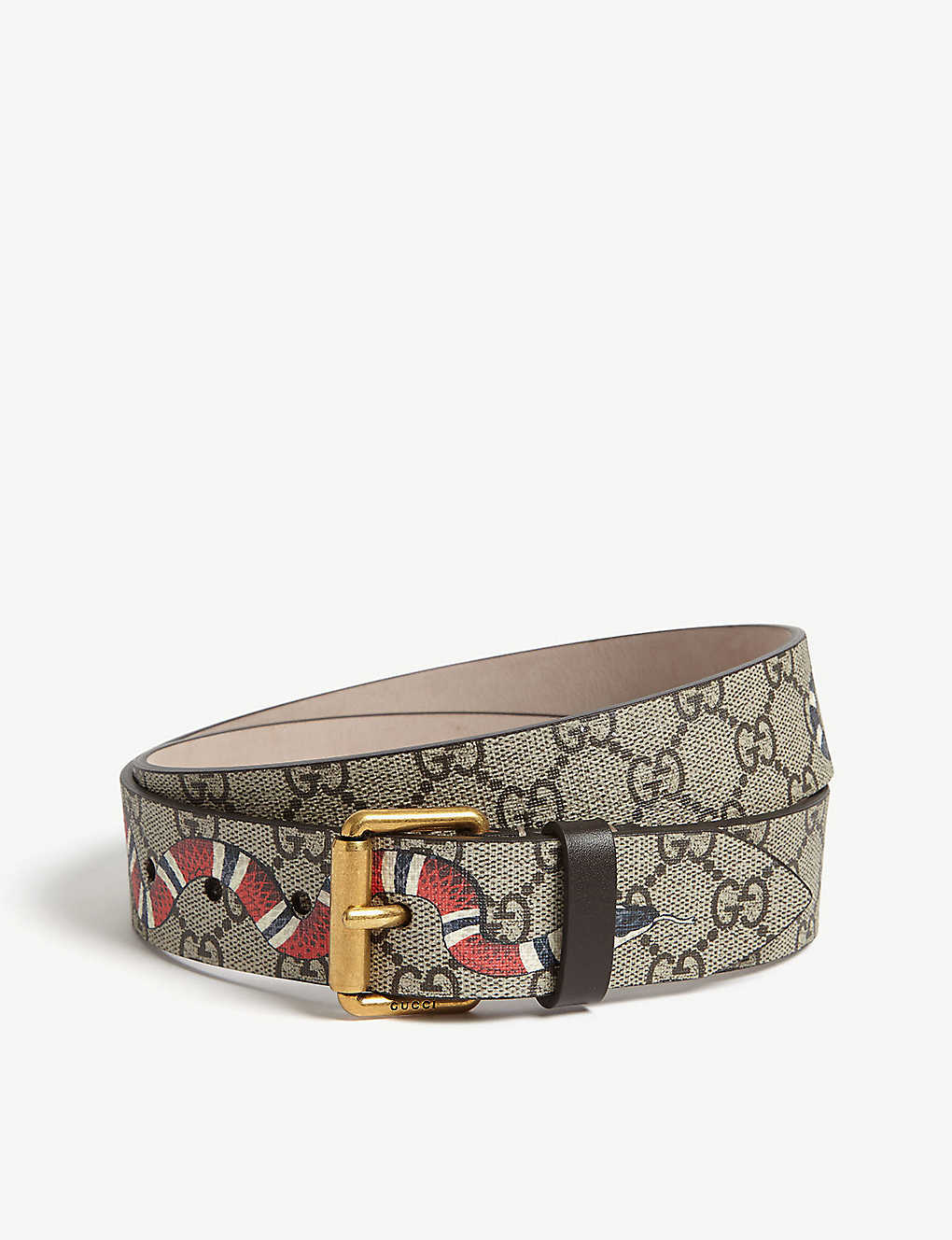 6c637bc3a GUCCI - Snake GG Supreme leather belt | Selfridges.com