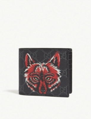 GUCCI Fox bi-fold wallet