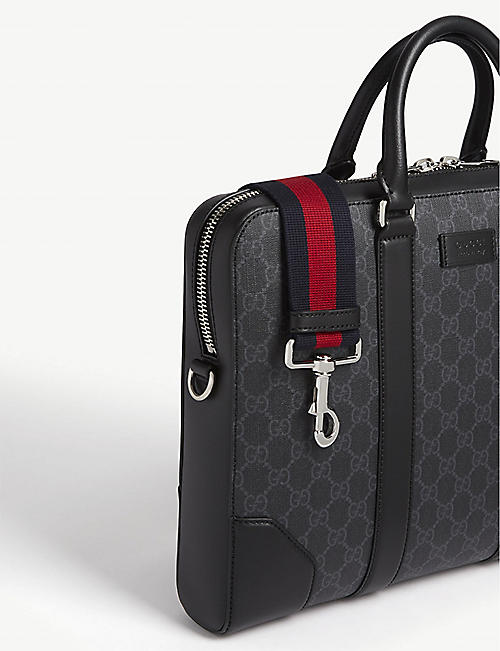 GUCCI Supreme leather briefcase