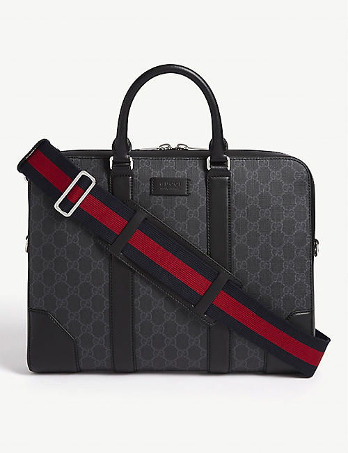 GUCCI: Supreme leather briefcase