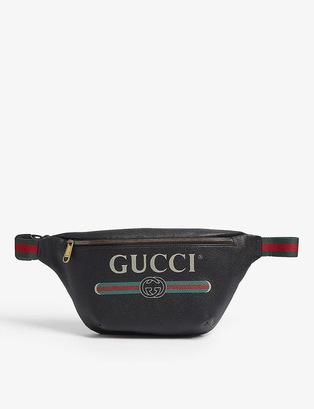 89536a5a3a2b GUCCI - Logo-print small leather belt bag | Selfridges.com