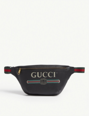 GUCCI Logo-print small leather belt bag