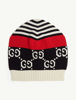 24cd52aa12a87 GUCCI - Striped knitted wool beanie