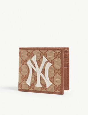 GUCCI NY Yankees canvas wallet
