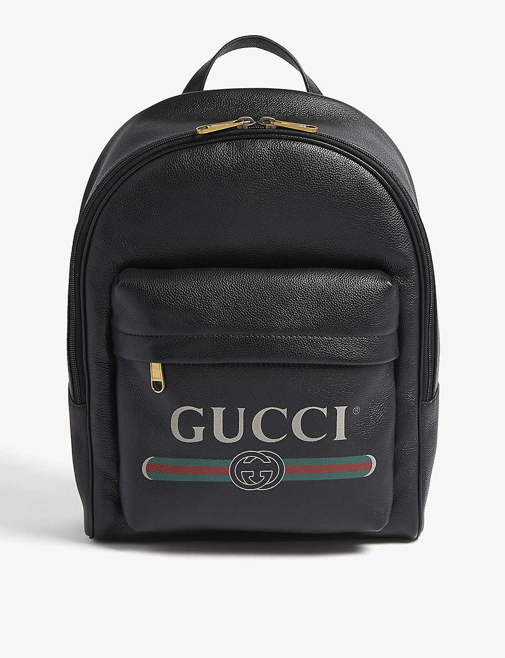 0289f708dfe0d6 GUCCI - Logo-print leather backpack   Selfridges.com