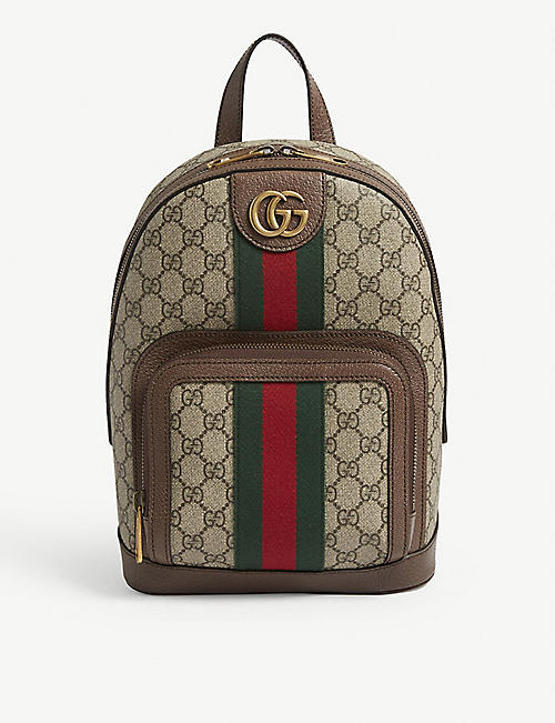 d9c895c6103 GUCCI GG Supreme Ophidia small backpack