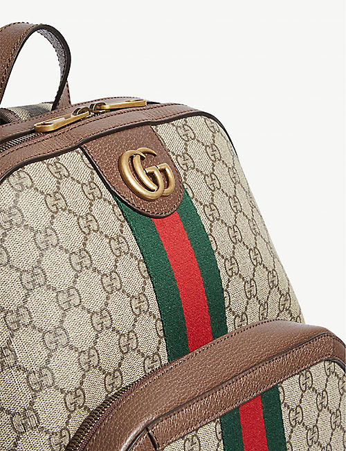 cadc930b109a GUCCI GG Supreme canvas and leather backpack. BESTSELLER. Quick Shop