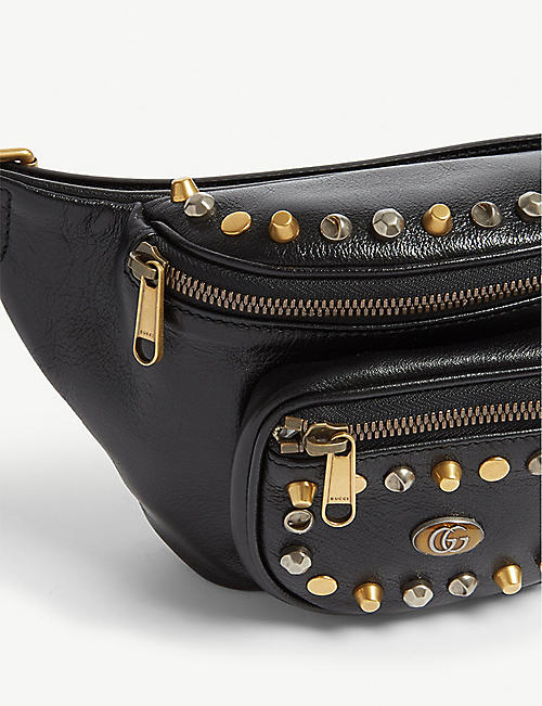 GUCCI Studded leather belt bag