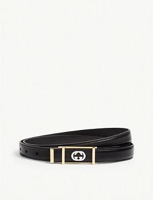 d22020c39 GUCCI - Supreme G Buckle Belt | Selfridges.com