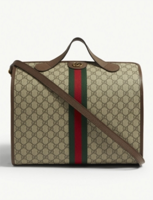 GUCCI Ophidia GG Supreme canvas logo duffle bag