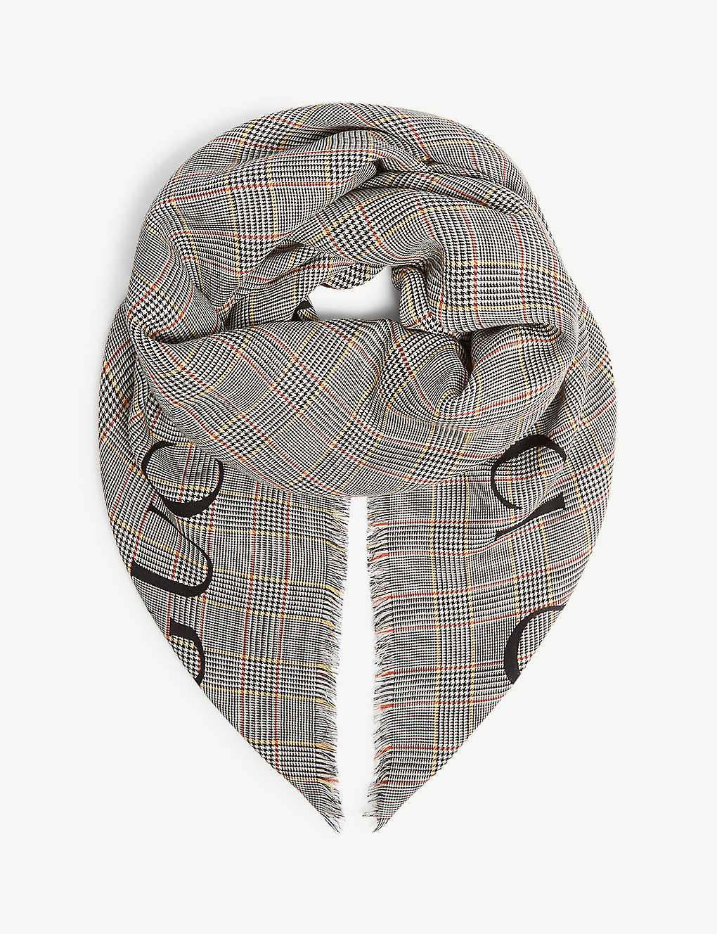9223fc16618 GUCCI - Logo check wool scarf | Selfridges.com