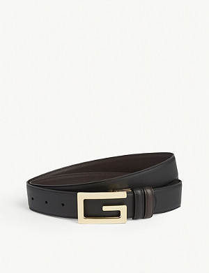 GUCCI Reversible leather G logo belt