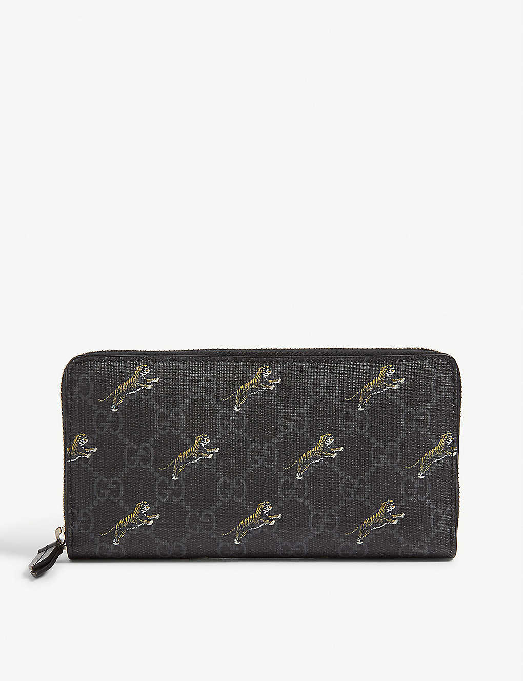 0ab5be7a7 GUCCI - GG supreme zip wallet   Selfridges.com