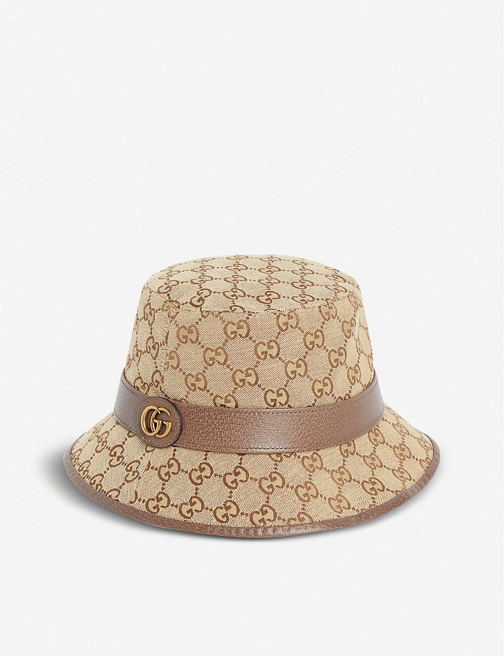 dd47ccda313242 GUCCI - Monogrammed canvas bucket hat | Selfridges.com